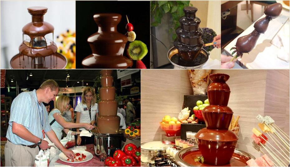 Chocolate Fountain Machine Making Wonderful Chocolate